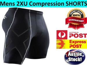 Mens Compression Short Sport Pants Base Layer Skin Tights Running Workout Gym AU