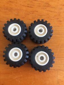 Lego Wheel Part 6014 X4 White Old Version