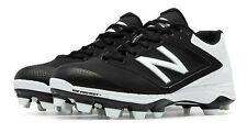 New Balance Low-Cut 4040v1 TPU Softball Cleat Womens Shoes Black with White Size