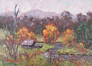 Original Oil Painting Australian Impressionist Artist Enoch Hlisic NOOJEE