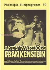 ANDY WARHOL - JOE DALLESANDRO - FLESH FOR FRANKENSTEIN * GERMAN MOVIE PROGRAM!
