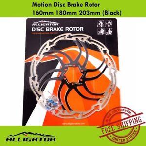 ALLIGATOR Motion Disc Brake Rotor 160mm 180mm 203mm MTB Road Bike (Black)
