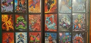 Marvel Masterpieces 1992 1993 1994 Master Sets With ALL Sub Sets Trading Cards