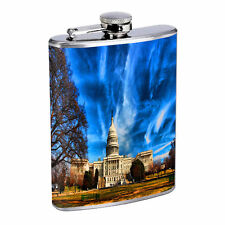 Washington D.C. D1 Flask 8oz Stainless Steel Hip Drinking Whiskey Monuments