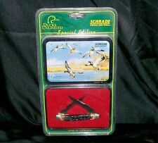 """Schrade 77UH Knife Ducks Unlimited """"Muskrat Special Edition"""" 3-7/8"""" W/Clampac"""