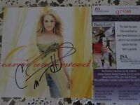 CARRIE UNDERWOOD SIGNED CARNIVAL RIDE CD BOOKLET W/JSA EXACT PROOF