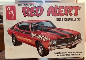 """model car """"art box"""" top only (kit not included) AMT 72 Chevelle """"7Red Alert"""""""