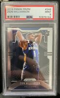 2019-20 PANINI PRIZM ZION WILLIAMSON ROOKIE CARD #248 PSA 9 MINT