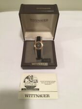 Wittnauer Ladies Vintage Gold Tone Quarts Watch NWT New Battery Leather Band