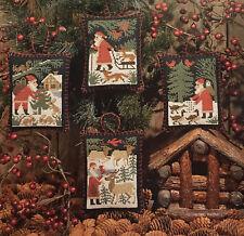 Santa & Woodland Friends Christmas Ornaments Prairie Schooler Pattern Original
