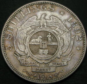SOUTH AFRICA 5 Shillings 1892 - Silver - VF - 1530 ¤