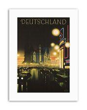 Berlin Allemagne Deutschland Poster vintage Publicité Voyage Toile Art Prints