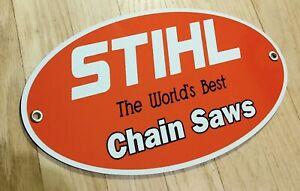 Stihl chainsaw garage sign