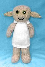 KNITTING PATTERN - Dobby inspired 31 cms soft toy Harry Potter doll