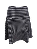 Tommy Hilfiger Women's Check-Print Fit & Flare Skirt 4, Black