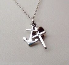 Faith Hope & Charity Necklace - 925 Sterling Silver - *NEW* Heart Cross Anchor