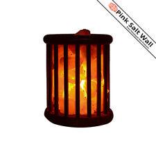 Himalayan Pink Salt Lamp Natural Rock Salt Wooden Basket Lamp Ionizer