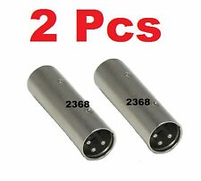 2 Pcs - 3-Pin XLR Male to Male Plug Coupler Gender Changer Audio Mic DJ Adapter