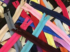 "Lot of 100pcs Nylon Close End Zippers 3"" to 11"" Assorted SIzes/Colors Ykk,Talon"
