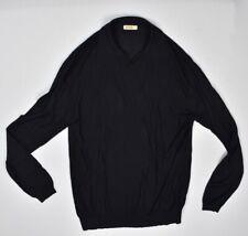 Zilli Mens Black Cashmere Silk Light Knit Sweater Size 62 - 5XL Mint Zilli Logo