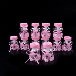 12x Fillable Bottles for Baby Shower Party Decorations Wedding Sugar Candy S  ZC