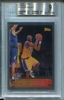 1996 Topps NBA 50 Basketball 138 Kobe Bryant Rookie Card Graded BGS MINT 9