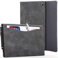 Apple iPad 10.2 2019 Case, Cover, Stand, Document Pocket & Sleep Wake - Black