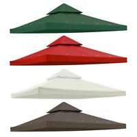 10'x10' Gazebo Canopy Top Replacement 2 Tier UV30 Patio Pavilion Sunshade Cover