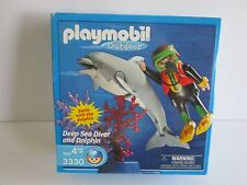 PLAYMOBIL  3330  DEEP SEA DIVER AND DOLPHIN  DATED 2002 NEW IN BOX