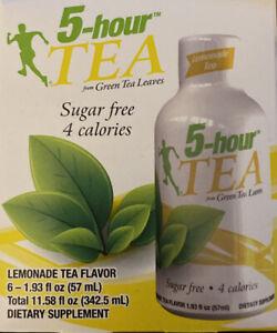5-Hour Energy Natural Green Tea Shot, Lemonade  6 pack 1.93 oz bottles exp 10/21