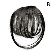Thin Neat Air Bangs  Extensions Clip in on Fringe Front Hairpiece Sale