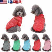 Pet Dog Cat Warm Fleece Vest Clothes Coat Puppy Shirt Sweater Winter Apparel US