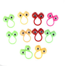 10pcs eyes fingers puppets plastic rings with wiggle eyes party favors kids  ESC
