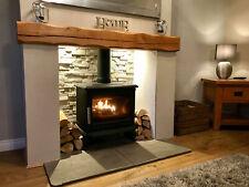 SOLID OAK BEAM Fireplace Mantel Mantle Shelf Lintel Mantelpiece HEAVILY WORKED