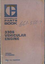 Caterpillar 3306 Vehicular Engine Parts Book Manual Factory Original OEM 1976