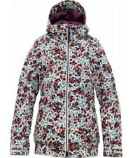 Burton Women TWC Hot Tottie Snowboard Jacket (S) Bright White Floral Melt
