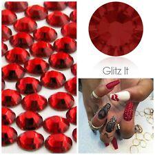 Swarovski x 50 MIXED SIZE Light Siam Red GLUE ON Crystals Rhinestones Nail Art