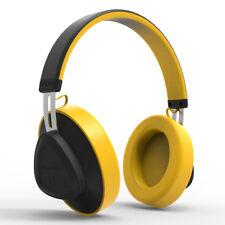 Bluedio TM Bluetooth 5.0 On-Ear Headphones Voice Control Wireless Headset Yellow