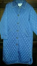 Appleseed's Long Quilted Nylon Coat Jacket Size Large Lavender Purple