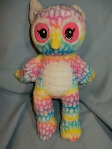 """Build A Bear Rainbow Friends Owl 17"""" Sound Box with Message in Foot"""