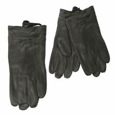 Gants et moufles noirs poignet en cuir pour femme