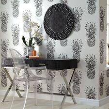 Tropics Copacabana Ananas Tapete Rollen - schwarz weiß - Arthouse 690900 NEU