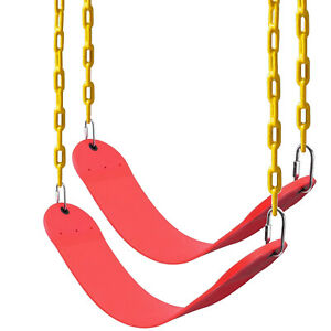2 Pack Heavy Duty Swing Seat Swing Set Accessories Swing Seat Replacement Red