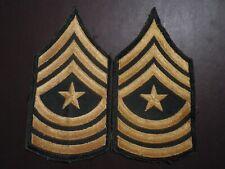 "Sergeant Major 3/"" merrowed edge single Army Rank Chevron VN era"