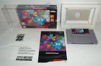 VG Cond Super Nintendo RARE ATLUS Game PIECES Complete In Box&Protector SNES CIB