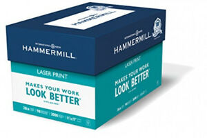 Hammermill Laser Print Paper 28# 11x17 Ledger 98 Bright 2000 Sheets/4 ReamCase