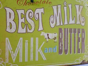Chocolate best milk . Milk and COW butter  sign  new