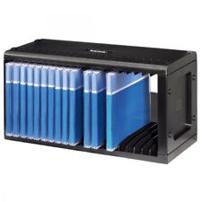 Hama 20 CD Storage Rack Plastic Wall Mount Compact Space Saver Black