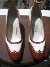 Vintage Brown & Cream Ladies Heels by Joyce