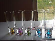 "5 BUBBLE BOTTOM  FLUTED 4 3/4""  Tall SHOT GLASSES"